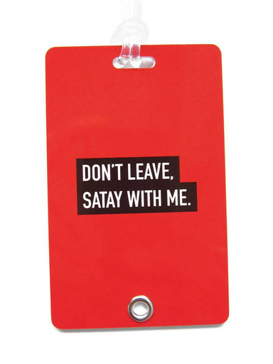 Satay Punny Luggage Tag - Local Luggage Tags - LOVE SG - Naiise