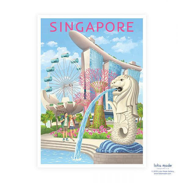 Savouring Singapore Postcard - S09 Local Postcards Loka Made