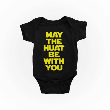 May The Huat Be With You S-Sleeve Romper - Kids Clothing - Wet Tee Shirt / Uncle Ahn T / Heng Tee Shirt / KaoBeiKing - Naiise