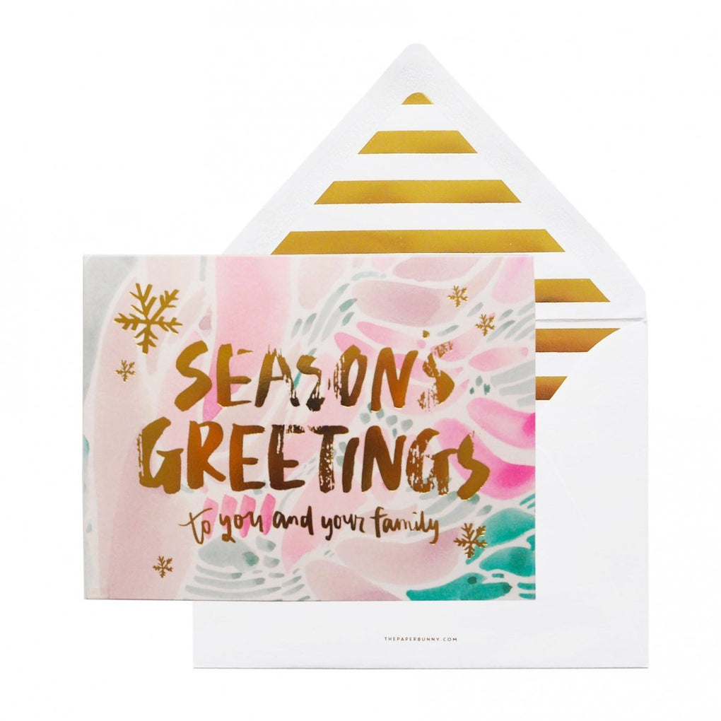 Seasons Greeting Card Christmas Cards The Paper Bunny