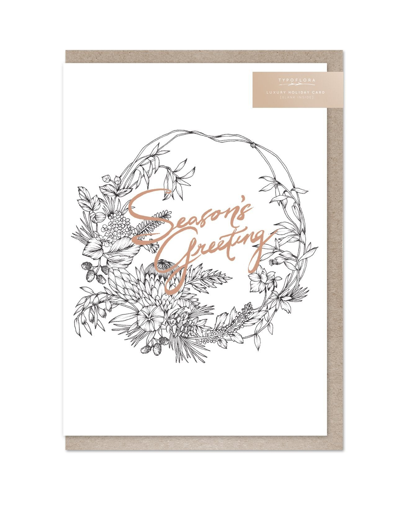 Season's Greeting Foil Card - Christmas Cards - Typoflora - Naiise
