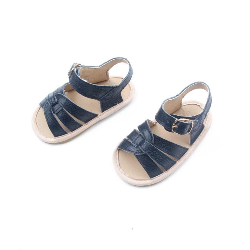 Selma for Grey Baby Sandals - Dark Blue Kids' Shoes Grey By Ortenhill