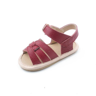 Selma for Grey Baby Sandals - Dark Red (Pre-Order) - Kids' Shoes - Grey By Ortenhill - Naiise