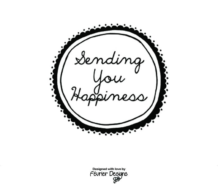 Sending You Happiness Card Generic Greeting Cards Fevrier Designs