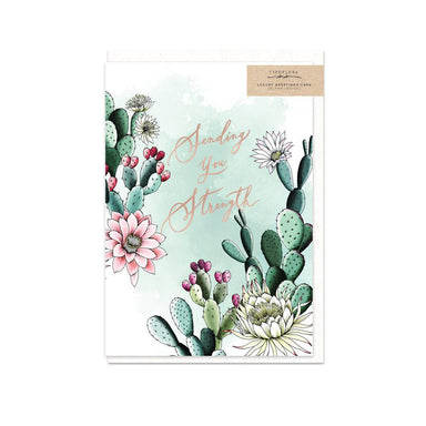 Sending You Strength Card - Encouragement Cards - Typoflora - Naiise