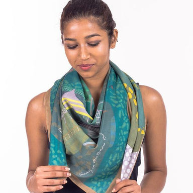 Serenity in Mac Ritchie Silk Scarf Local Scarves Binary Style
