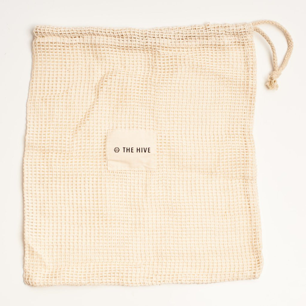 Set of 2 Cotton Mesh Bag THE HIVE