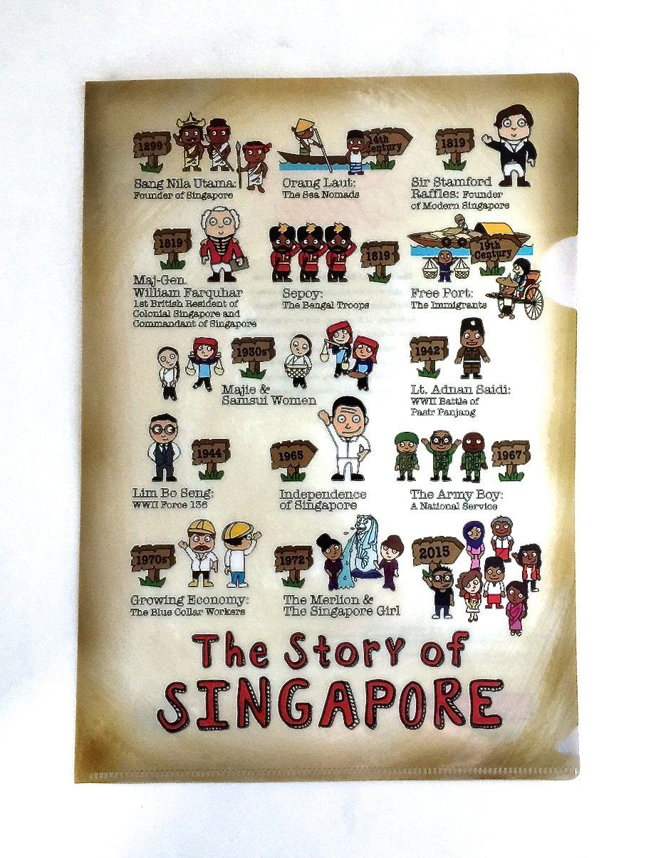 SG A4 Folder- Storyboard of Singapore Local Files Little Red Box