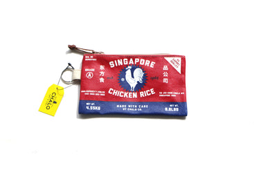 SG Chicken Rice Pouch Small - Red Local Pouches Chalo
