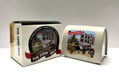 SG Coin Box-Singapore Heritage Trail - Local Home Decor - Little Red Box - Naiise