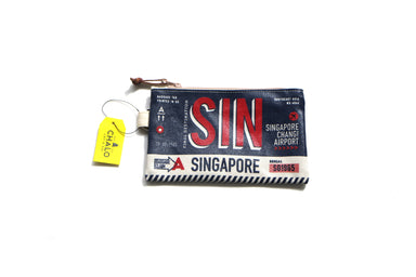 SG Luggage Tag Pouch - Small - Navy Local Pouches Chalo