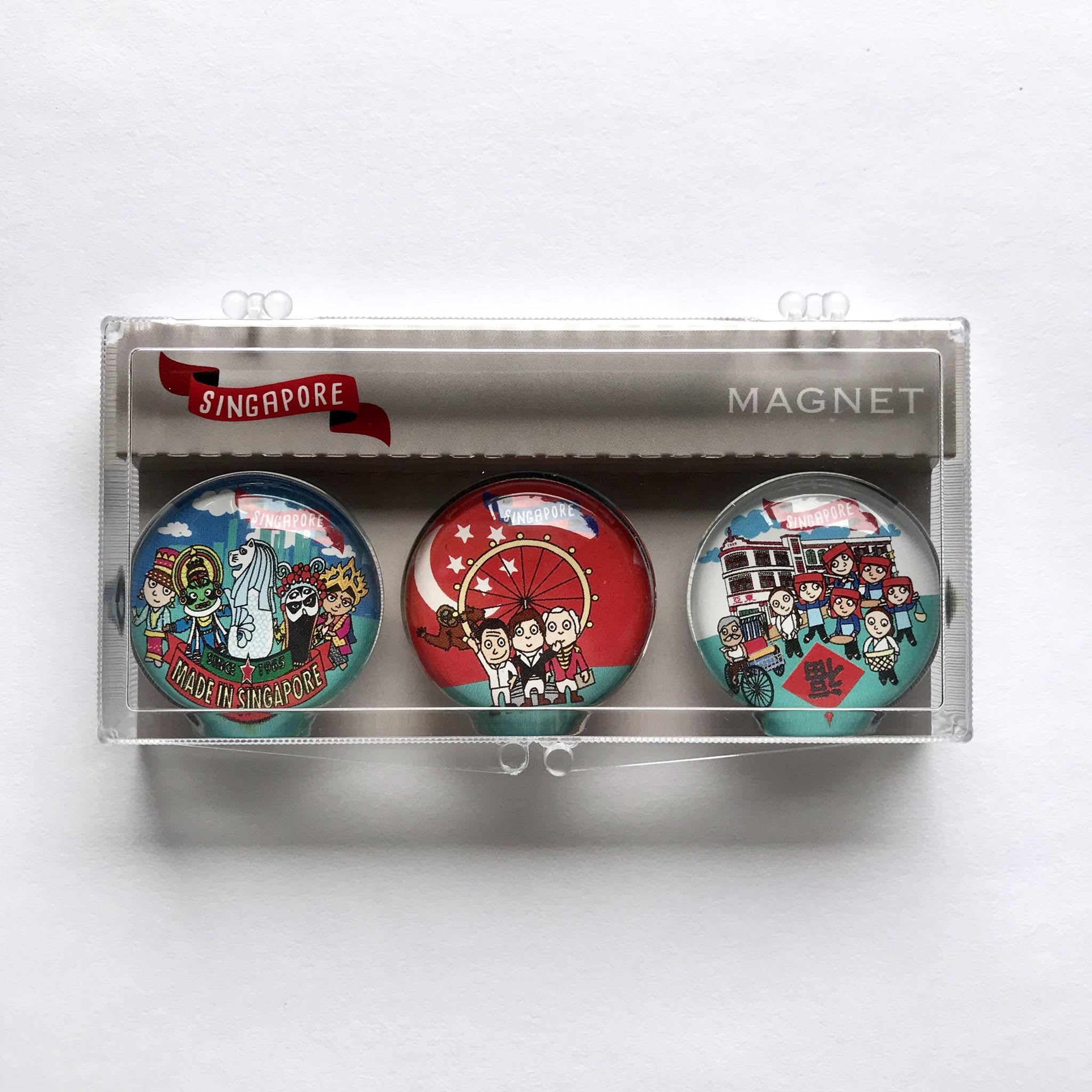 SG Magnet: Multi Racial Local Magnets Little Red Box