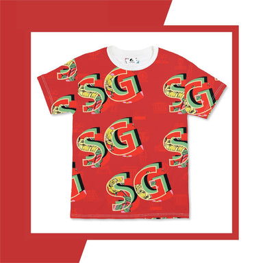 SG Red Men's Tee Local T-shirts CUSTOMINE