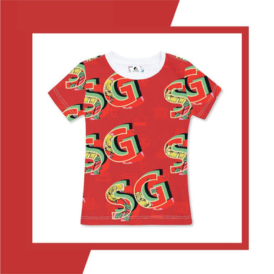 SG Red Women's Tee Local T-shirts CUSTOMINE
