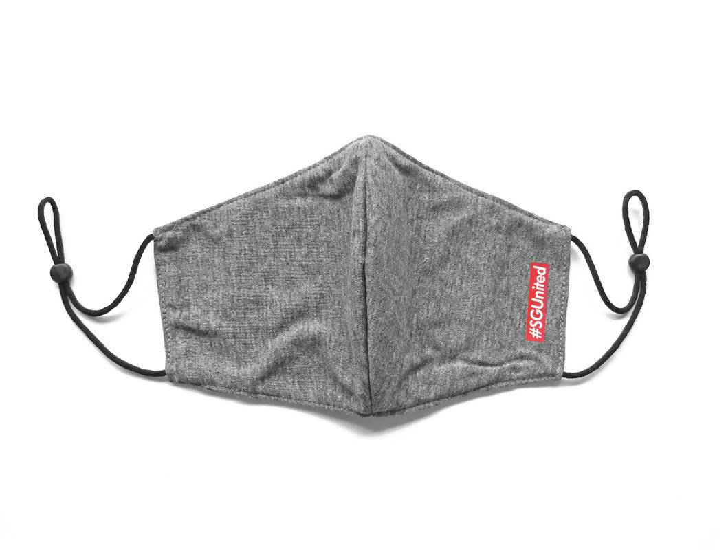 #SGUnited Box Logo Face Mask (Pre-Order) Fabric Masks LOVE SG Heather Grey (Pre-Order)