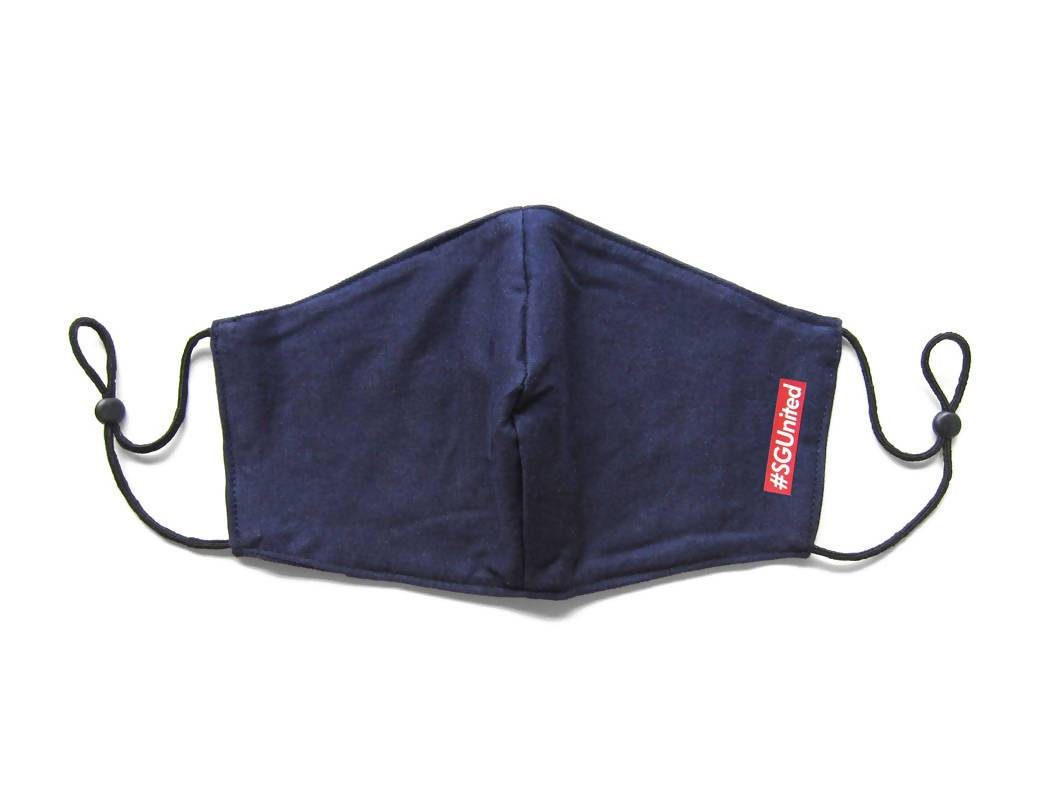 #SGUnited Box Logo Face Mask (Pre-Order) Fabric Masks LOVE SG Navy Blue (Pre-Order)