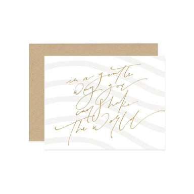 Shake The World Card Generic Greeting Cards Mint & Ordinary