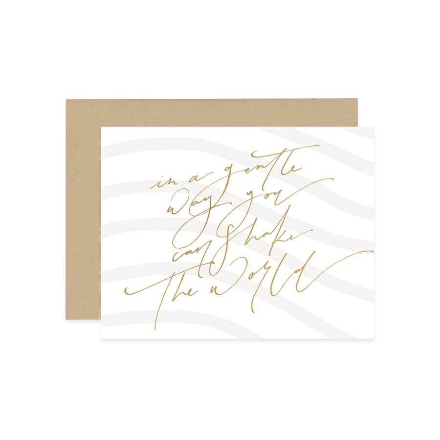 Shake The World Card - Generic Greeting Cards - Mint & Ordinary - Naiise