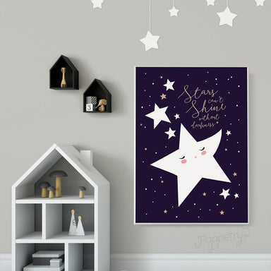 Shining Stars A4 Print - Kids Prints - Poppetry - Naiise