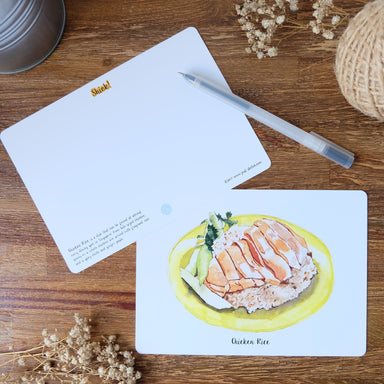 Shiok Chicken Rice Postcard - Naiise