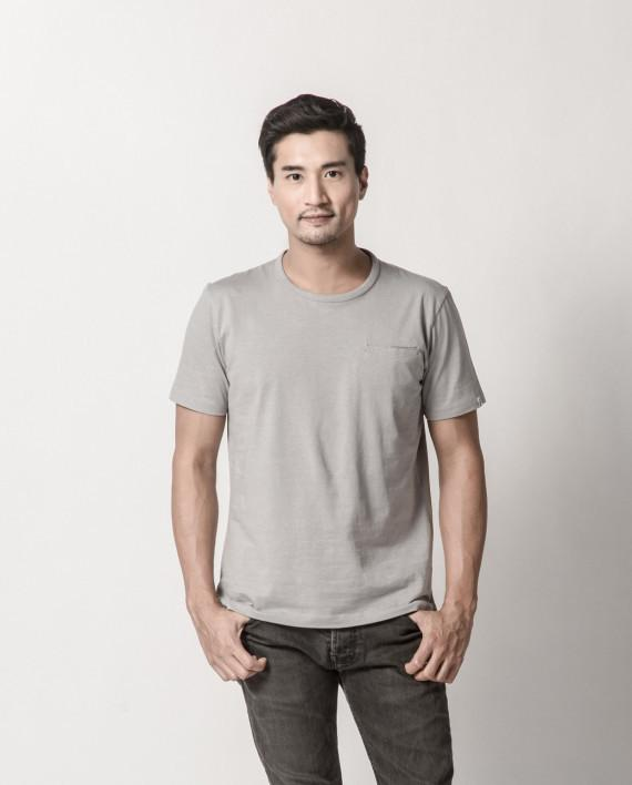 Shippo Collection - Cool Grey Pocket Square Tee Men's T-shirts Cut & Paste