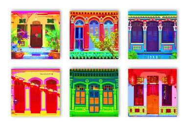 Shophouse Facade Coasters - New Arrivals - MB Art - MemoryBoards - Naiise