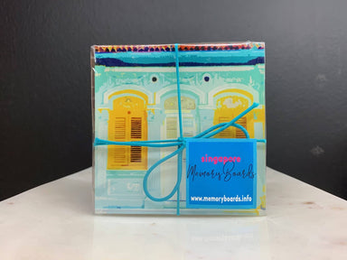 Shophouse Pastel Coasters - New Arrivals - MB Art - MemoryBoards - Naiise
