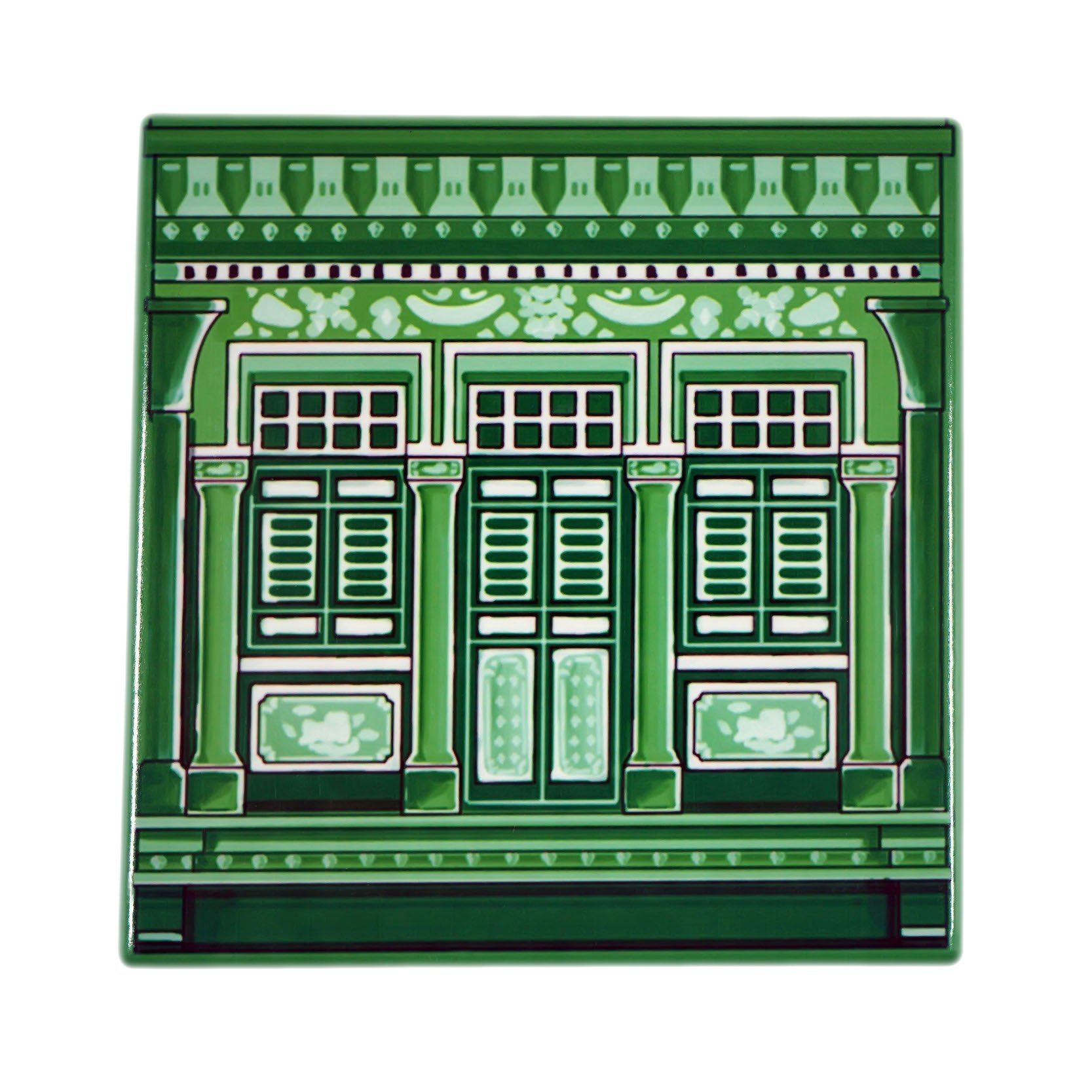 Shophouse Window Tile Coaster - Naiise