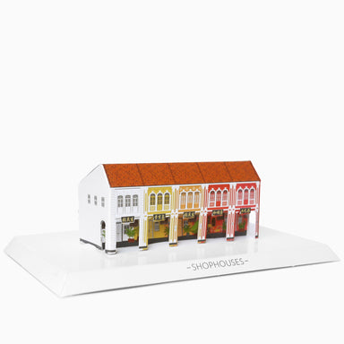 Shophouses Postcard and Cut-out Statue - Local Postcards - Postcardcube - Naiise