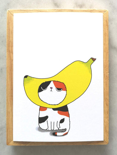 Silly Cat Head – Banana Cat Postcard Local Greeting Cards Steak & Eggs Please