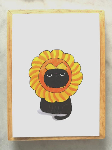 Silly Cat Head – Pineapple Tart Cat Postcard Local Greeting Cards Steak & Eggs Please