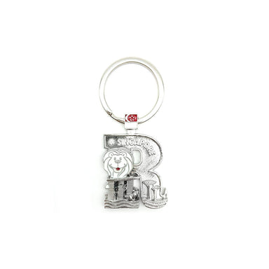 Silver Merlion Alphabet Keychain - R Local Keychains Guardian Angel