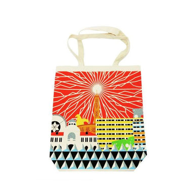 Singapore Architecture Canvas Bag Local Tote Bags Now&Then