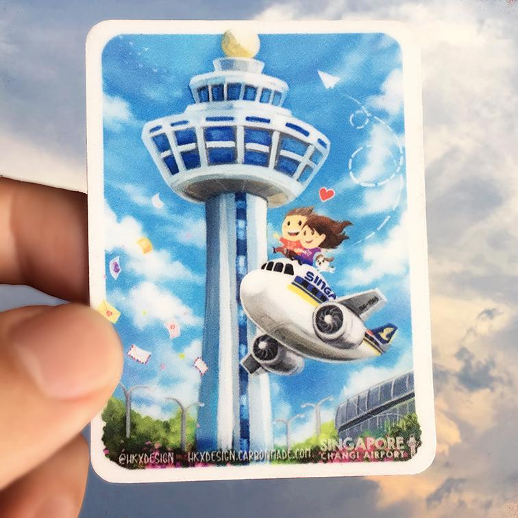 Singapore Changi Airport Fridge Magnet - Local Magnets - Lim Hang Kwong - Naiise