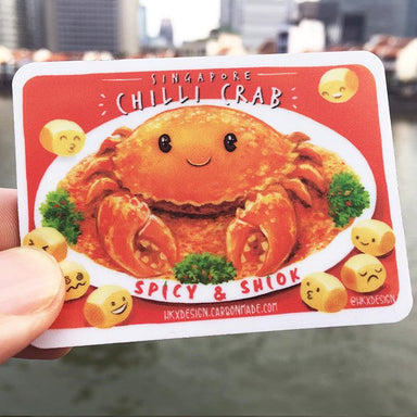 Singapore Chilli Crab Fridge Magnet Local Magnets Lim Hang Kwong