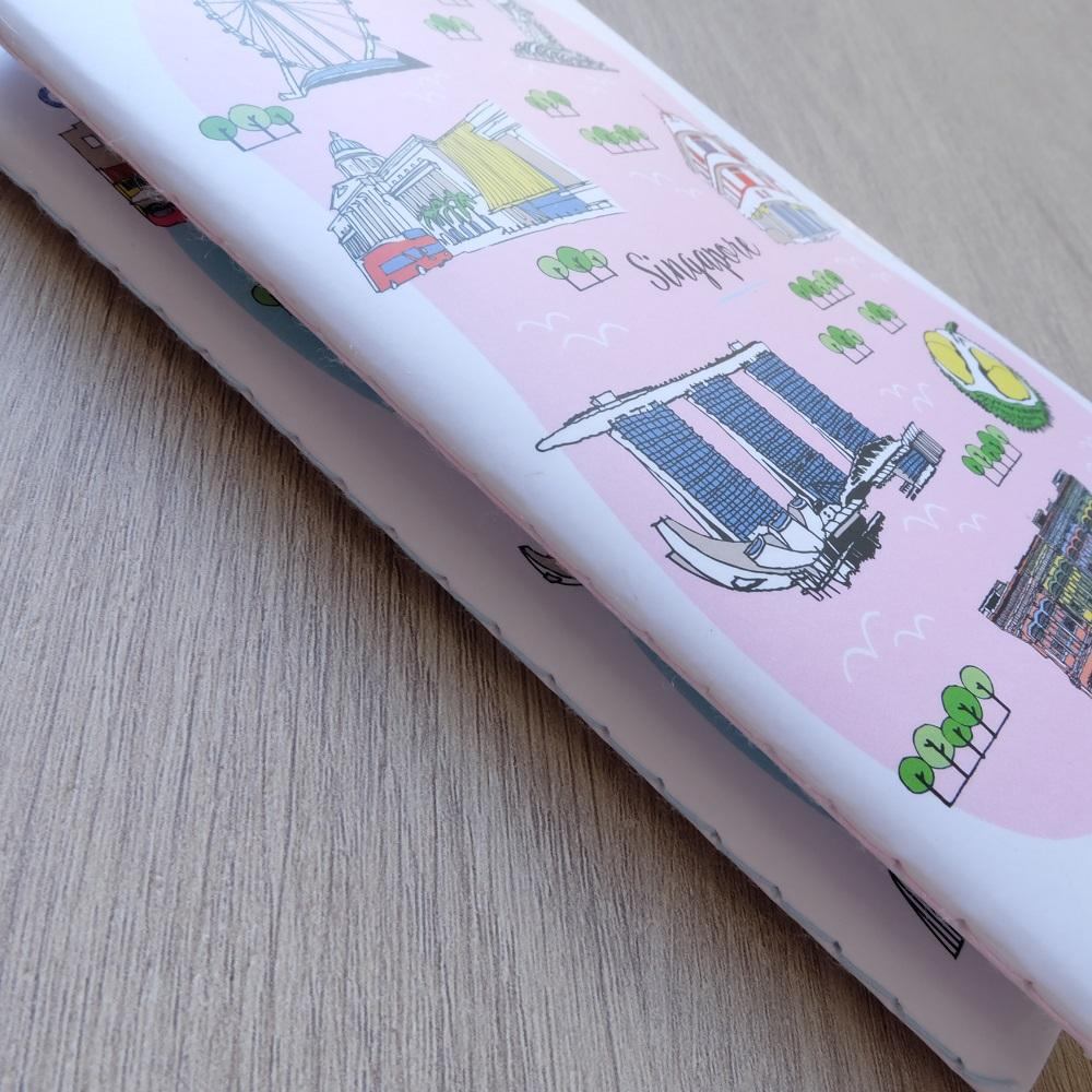 Singapore City Notebook (Pink) - Local Postcards - Just Sketch - Naiise
