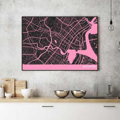 Singapore Downtown Map Print - Local Prints - Big Red Chilli - Naiise