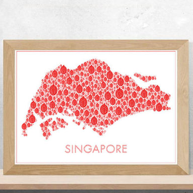 Singapore Durian Map Print - Local Prints - Big Red Chilli - Naiise