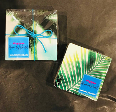 Singapore Green Coasters - New Arrivals - MB Art - MemoryBoards - Naiise