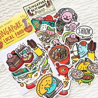 Singapore Local Food Sticker Pack Local Stickers SayWhat?
