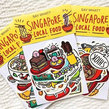 Singapore Local Food Sticker Pack - Local Stickers - SayWhat? - Naiise