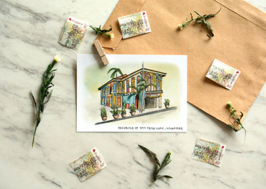Singapore on Paper | Coloured Postcards (Set of 4) New Arrivals Papercranes Design