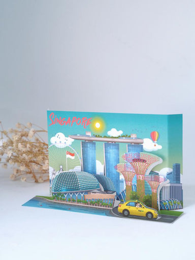 Singapore Popup Postcard: Esplanade and Marina Bay Sands - Local Postcards - Loka Made - Naiise