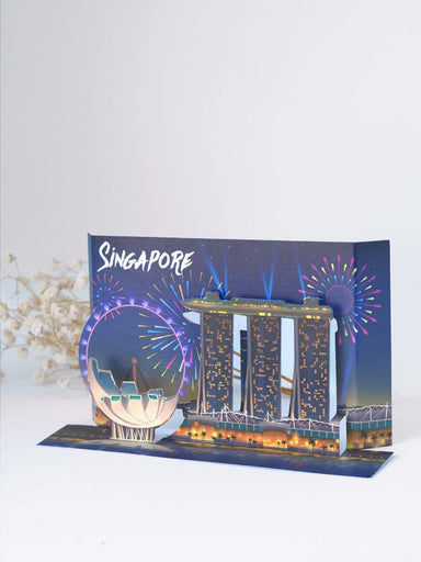Singapore Popup Postcard: Marina Bay Sands and Artscience Museum - Local Postcards - Loka Made - Naiise
