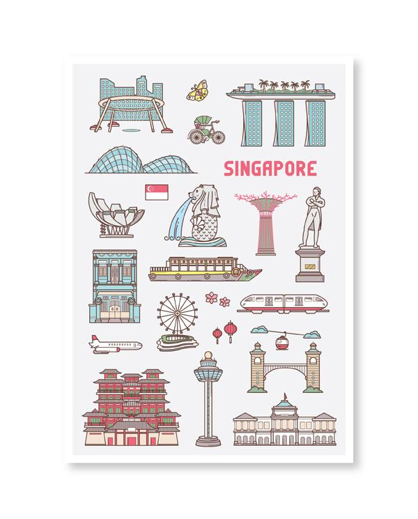 Singapore Series Postcard: The Uniqueness of Singapore 2 - Local Postcards - Loka Made - Naiise