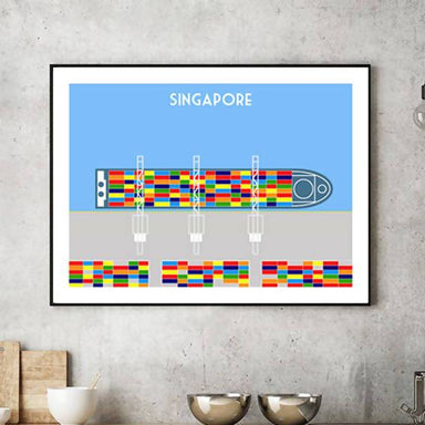 Singapore Shipping Print - Local Prints - Big Red Chilli - Naiise