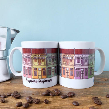 Singapore Shophouses Mug - Local Postcards - Just Sketch - Naiise