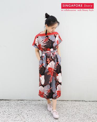 [SINGAPORE STORY] Tropical Garden Kimono Dress Dresses Ans.ein