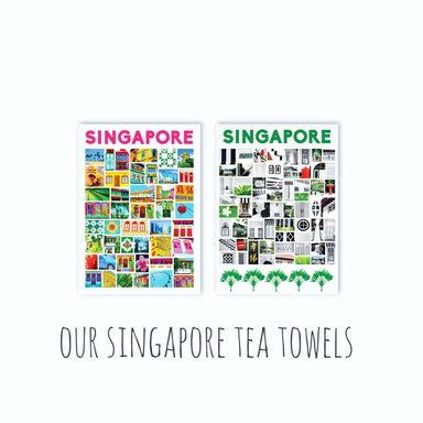 Singapore Tea Towels - New Arrivals - MB Art - MemoryBoards - Naiise