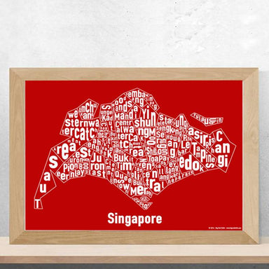 Singapore Text Map Print New Arrivals Big Red Chilli